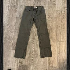 Levis 511 Slim Fit Gray Jeans Boy's sz 18R 29x29